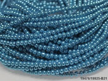 Korálky voskované perly 4mm TYRKYSOVÉ
