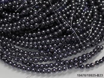 Korálky voskované perly  4mm ŠEDÉ