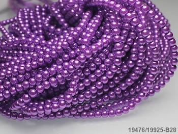 Korálky voskované perly  4mm FIALOVÉ STŘEDNĚ