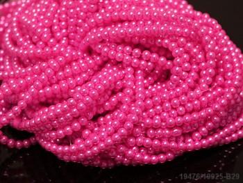 Korálky voskované perly  4mm NEON RŮŽOVÉ
