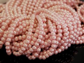 Voskované perly 6mm MERUŇKOVÉ