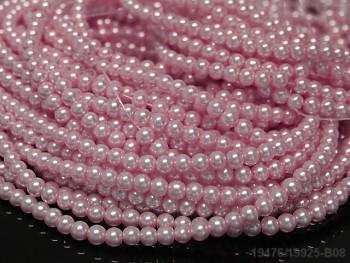 Voskované perly 6mm RŮŽOVÉ