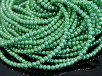 Voskované perly  6mm ZELENÉ TRÁVA