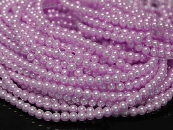 Voskované perly 6mm RŮŽOVOFIALOVÉ