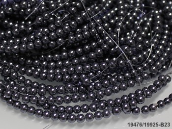 Voskované perly 12mm ŠEDÉ