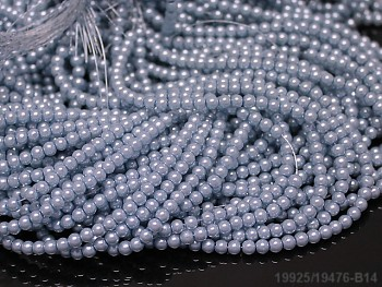Voskované perly 12mm SVĚTLE MODRÉ