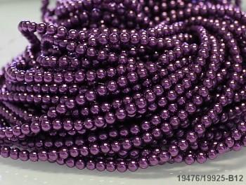Voskované perly 12mm TMAVĚ FIALOVÉ