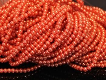 Voskované perly  8mm ORANŽOVÉ