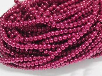 Voskované perly 10mm MALINOVÉ