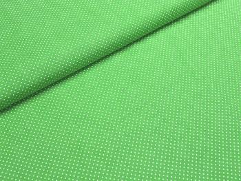 Puntíkovaná látka zelená limetka mikro, á 1m