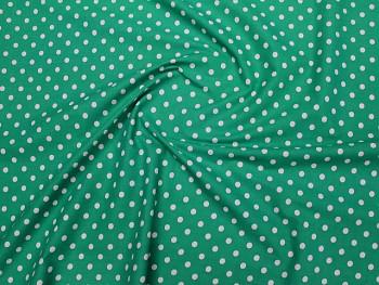 Puntíkovaná látka zelená 06, á 1m