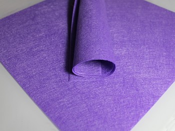 STŘEDNĚ FIALOVÝ dekorační filc tvrdý 30x30cm