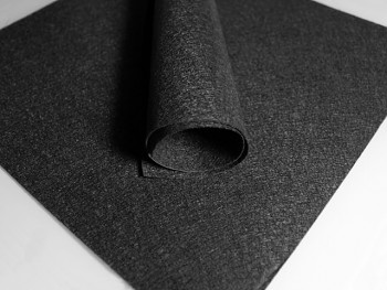 ČERNÝ dekorační filc tvrdý 30x30cm