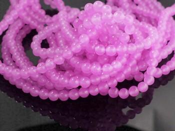 Přírodní JADEIT růžový, kuličky  6mm, bal. 10ks