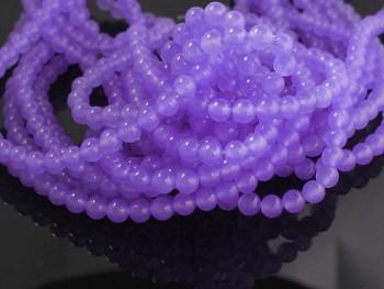 Přírodní JADEIT stř. fialový, kuličky  6mm, bal. 10ks