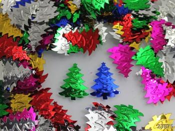 Flitry vánoční stromečky 23mm MIX, bal. 5g
