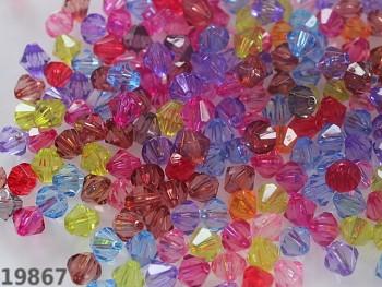 Broušené korálky ohňovky akryl Ø 8mm MIX barev