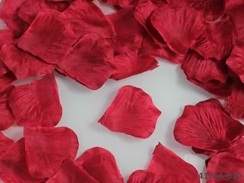 ČERVENÉ okvětní plátky růží