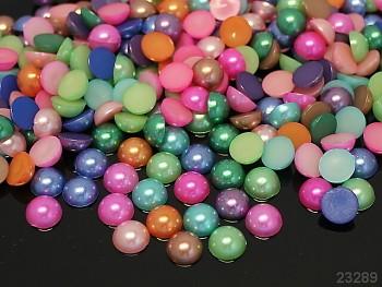 Kabošonky perleťové 10mm MIX, bal. 15ks