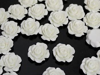 Kabošony květy 26mm BÍLÉ, bal.2ks