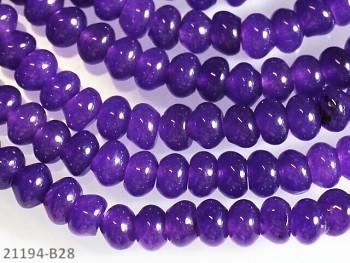Přírodní JADEIT středně fialový rondelky 6mm, bal. 5ks