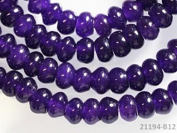 Přírodní JADEIT tmavě fialový rondelky 6mm, bal. 5ks