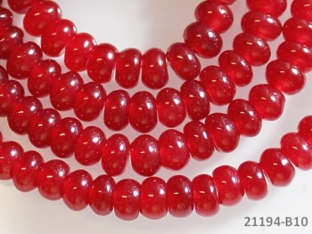 Přírodní JADEIT červený rondelky 6mm, bal. 5ks