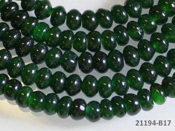 Přírodní JADEIT tmavě zelený rondelky 6mm, bal. 5ks