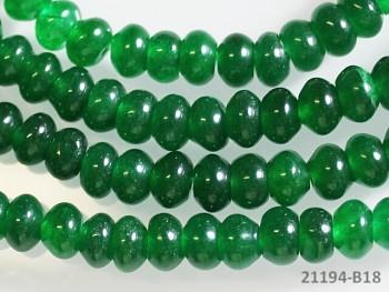 Přírodní JADEIT zelený rondelky 6mm, bal. 5ks