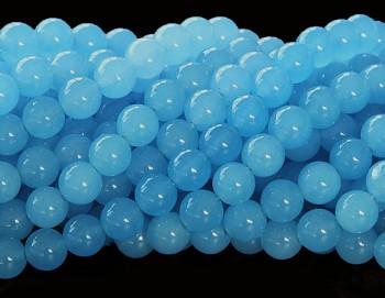 Přírodní JADEIT sv.modrý, kuličky 10mm, bal. 4ks