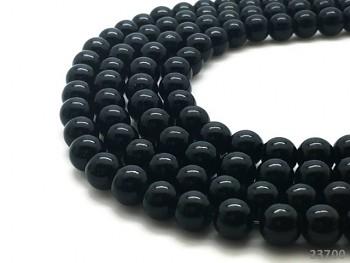 Přírodní JADEIT černý, kuličky 6mm, bal. 5ks