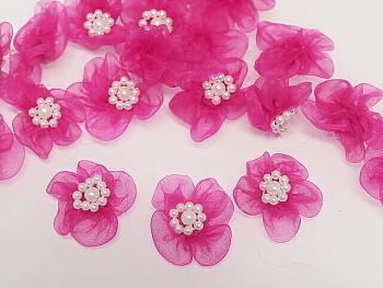 Aplikace květinka cyklámová bal. 5ks