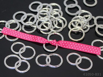 Svatební prstýnky do výslužky platinové, balení 10ks