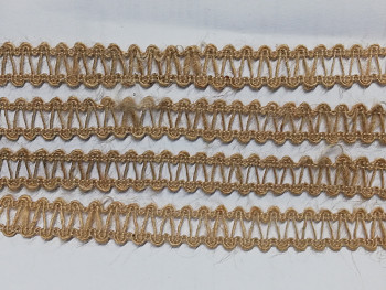 Ozdobný přírodní prýmek JUTA 15mm,  á 1m