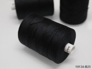 Nitě 24/3 černé, návin 1000m na koženku, rins a nylon