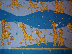 Látka bavlna žirafy modré