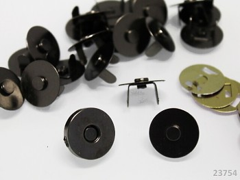 Magnetické zapínání kulaté chrom 18mm GUNMETAL