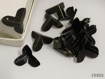 Rohové kovové rohy bronzové, bal. 4ks