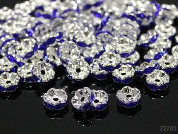 Korálky štrasové rondelky s krystalky NIVEA 8mm bal. 5ks