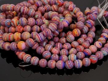 Korálky tyrkenit multicolor melírované kuličky 6mm