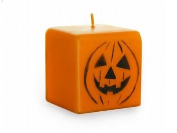 Halloween svíčka dýně oranžová 70mm