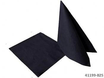 ČERNÉ ubrousky 33x33cm na slavnostní stůl, 1ks