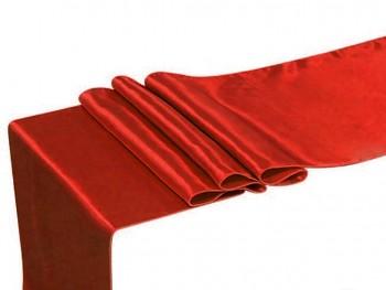 ČERVENÝ satén 36cm luxusní lesklá svatební stuha šerpa
