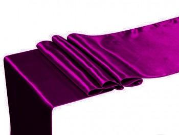 FIALOVÝ BORŮVKOVÝ satén 36cm luxusní lesklá svatební stuha šerpa