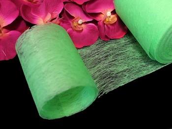 SVĚTLE ZELENÝ vlizelín 10cm k dekoraci, aranžmá, á 1m