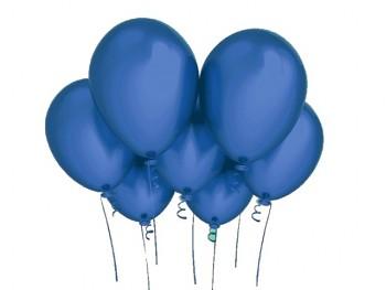 Nafukovací balónek MODRÝ 27cm PERLEŤOVÝ extra pevný