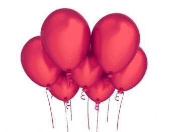 Nafukovací balónek ČERVENÝ 27cm PERLEŤOVÝ extra pevný