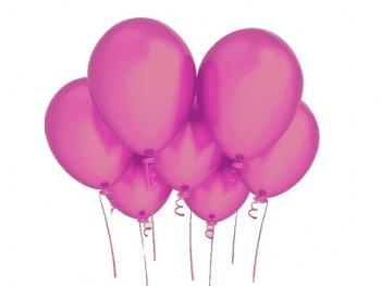 Nafukovací balónek CYKLÁM 27cm PERLEŤOVÝ extra pevný