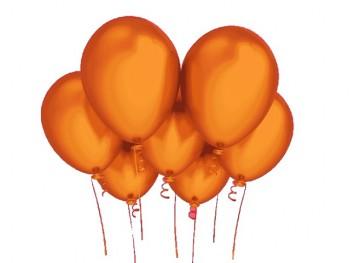 Nafukovací balónek ORANŽOVÝ 27cm PERLEŤOVÝ extra pevný