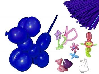 Italské modelovací balónky extra dlouhé NIVEA MODRÉ 1ks